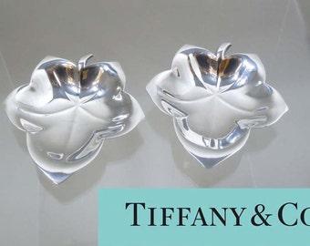 Vintage Tiffany Makers M Sterling silver Maple Leaf Finger Bowls M Mark