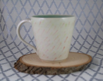 Dashed Mug - Coral, Yellow & Green