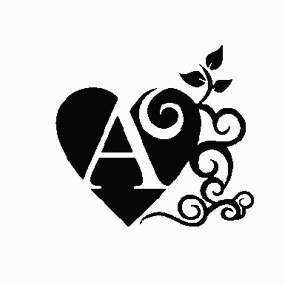 A fancy letter A embroidery design 4x4 from RnRVinylnDesign on