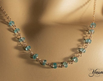 Apatite in rose gold-plated silver