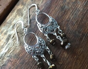 Silver Chandelier Earring