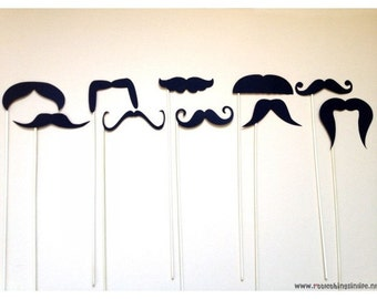 Mustaches photobooth props package