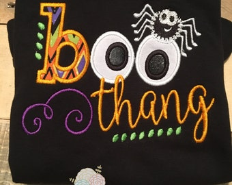 Boo thang shirt - boo thang - halloween shirt for girls - halloween shirt for boys - halloween shirt - boo shirt