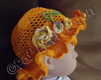 Hat baby orange