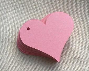 Pink Heart Gift Tags, Wedding Gift Tags, Baby Shower Gift Tags, Love Gift Tags, Valentines Gift Tags, Christmas Gift Tags