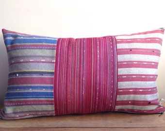 Patchwork Cushion cover made of hand-woven Turkish materials