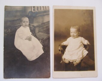 Vintage Baby Photo Postcards