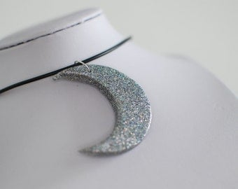 Midnight Snack Choker - Holographic Silver