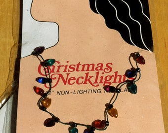 Mini Christmas Light Necklace