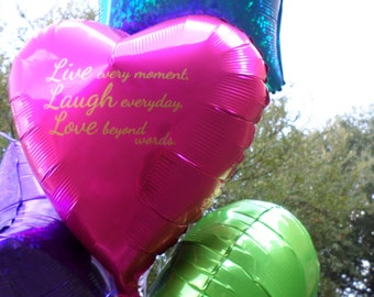 """18"""" Personalized Heart Mylar Balloons!"""