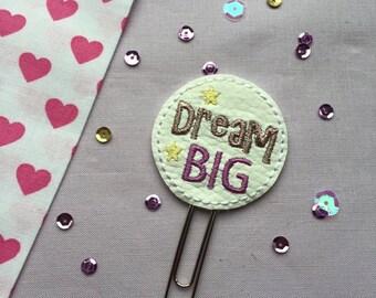 Dream Big Paperclip   Planner Supplies   Planner Accessories   Planner Clip   MAMBI Happy Planner   Filofax   Kikki K