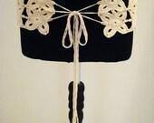 Custom order - Boho belt, Bohemian Belt, Women Belt, Crochet Cottin Belt, Lace Belt, Girlfriend gift, Beige ladies belt, woman gift