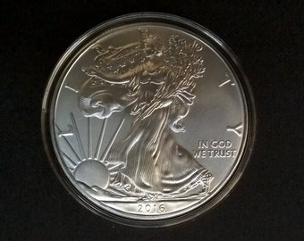 2016 Silver American Eagle (BU) w/ Air-Tite Case