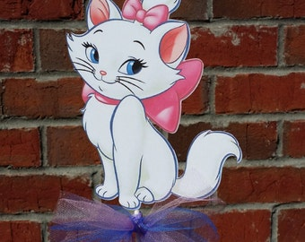1 Disney Aristocats Marie themed Cake Topper or Centerpiece Pick