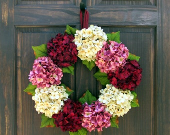 valentine wreaths for your front doorSummer Wreath Front Door Wreath for Summer Hydrangea Wreath