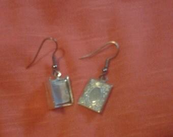 Book Locket Earrings