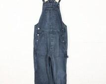 Blue Denim Dungarees 90s High Waist UK Womens Size 6 - 8