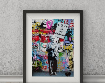 Love Is The Answer by Mr Brainwash Art Print