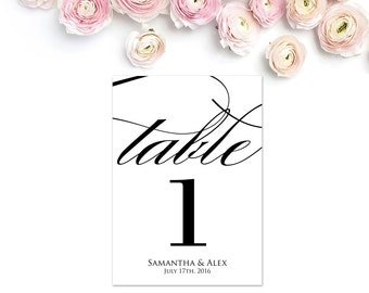 Wedding Table Numbers, Editable Table Numbers, Personalized Table Numbers, Tablescape, Reception Table Numbers, Table Number PDF, WBWD6