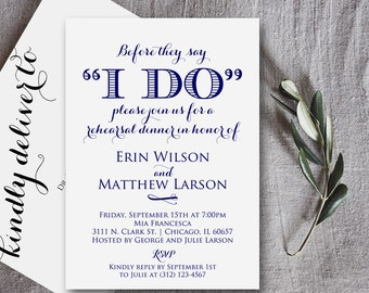 Rehearsal Dinner Invitation, Rehearsal Dinner Invitation Printable, Rehearsal Invitation, Wedding Rehearsal, PDF Instant Download, Weddings