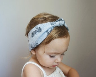 Baby Turban top knot in VINTAGE MOTORCYCLES