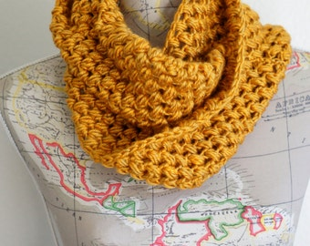 Golden Mustard Yellow Infinity Scarf