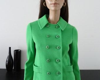 Veste/manteau vert 60/70's taille 36