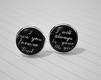 Father of the Bride  cufflinks gift , I will always be your little girl cuff links , father wedding gift, I love your forever dad Cufflinks