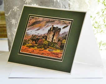 "Oil on canvas""Eilean Donan Castle in Scotland""Prints,Notecards"