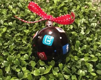 Social Media Christmas Ornament - Teen Christmas Ornament