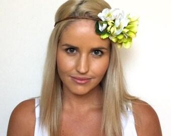 Gigi Flower Crown White