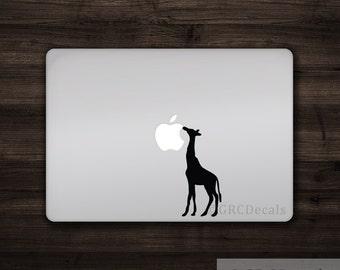 Giraffe - Vinyl Decal Sticker Macbook Mac Apple Laptop Unique Cute Animal Amazon Lion Vegetarian