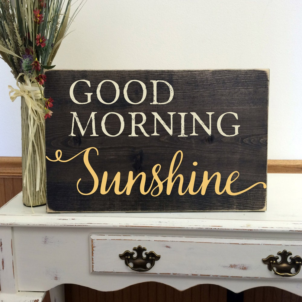Good Morning Sunshine Letter : Good morning sunshine wood sign nursery