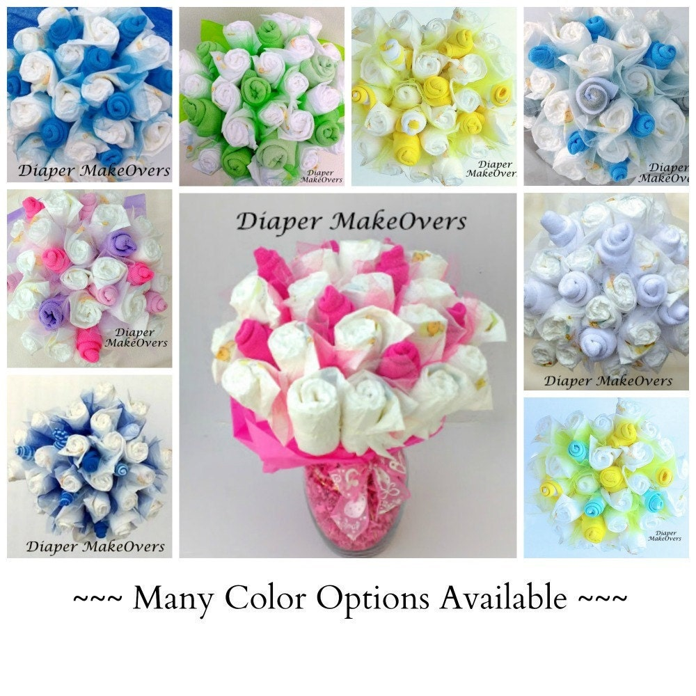 diaper bouquet unique baby shower gift shower by diapermakeovers