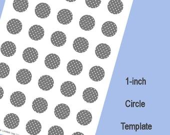 1-Inch Circle Template, Digital Download