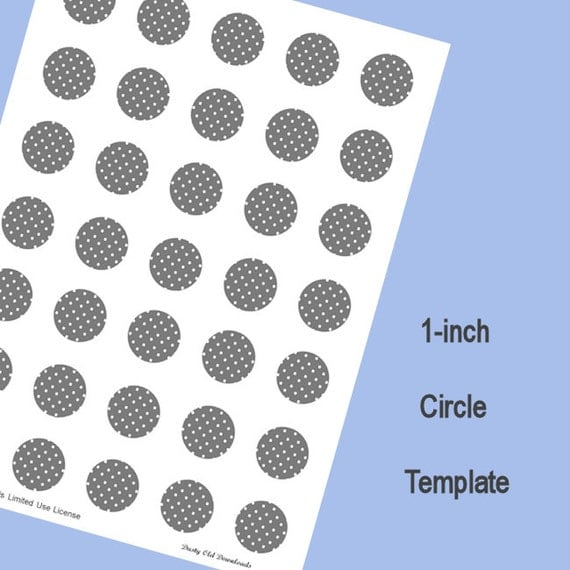 1 inch circle template digital download for 9 inch circle template