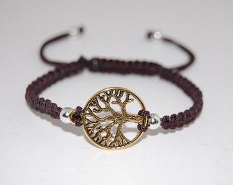 Tree of Life Bracelet ,Adjustable Cord Macrame Friendship Bracelet , Hemp, String Bracelet, Drawstring fit all,Men,Women,Yoga, Meditation