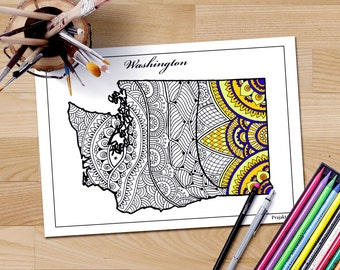 Massachusetts Map Adult Coloring Page State Maps Maps As - Us state map diy photos