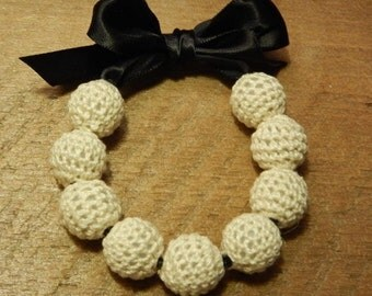 Lace Bead Ribbon Bracelet