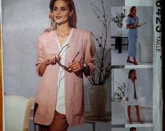 McCalls 6423 Go with all women's wardrobe. Size 12, 14, 16. Unlined jacket, top, vest, skirt, pants