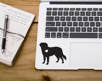 SUMMER SALE! Golden Retriever With Heart Dog iPhone Car Laptop Vinyl Decal Sticker