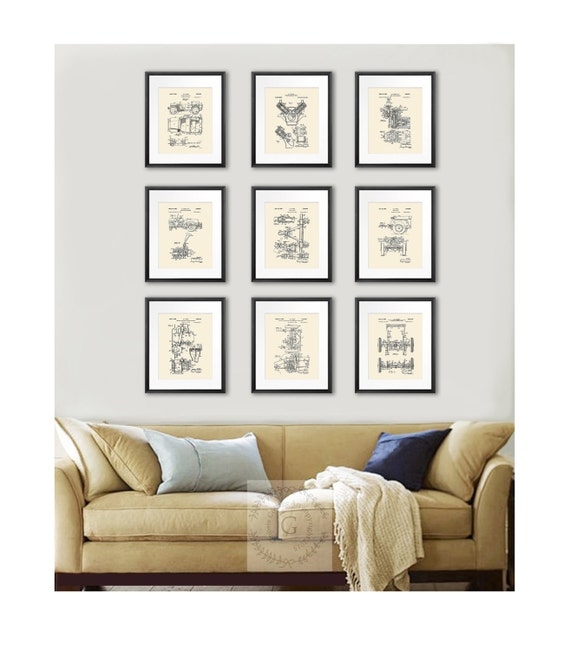Items Similar To Jeep Willys Home Decor Set Of 9 Prints