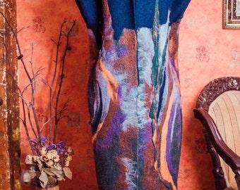 Fiber Art Coat Hand felted with merino wool