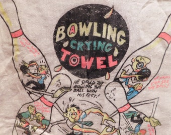 Vintage Bowling Crying Towel Bawling Towel