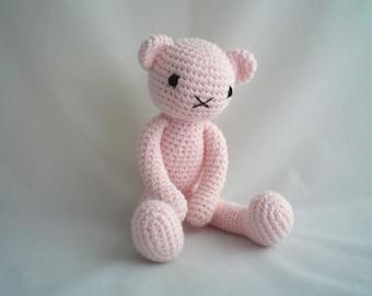 Crochet Bear / Amigurumi Bear / Dress Up Teddy / Cute Crochet Amigurumi Dress up Teddy Bear soft toy  / 18inch dolls Clothes / 18in Teddy