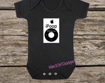 iPoop bodysuit / onesie® /creeper outfit -funny baby onesie