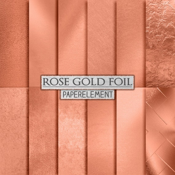Rose Gold Foil Backgrounds Rose Gold Digital Paper Metallic