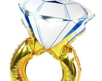 "32"" Giant RING Balloon, Engagement Ring Balloon, Gold Ring Balloon, Bachelorette Party, Engagement Party, Bridal Shower Decor, Wedding"