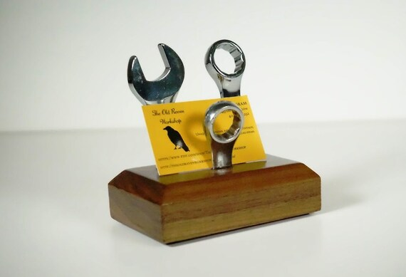 Automotive business card holder upcycled tools for Gear shift coat rack