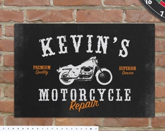 Motorcycle Sign, Personalized Motorcycle Repair Sign, Motorcycle Repair Sign